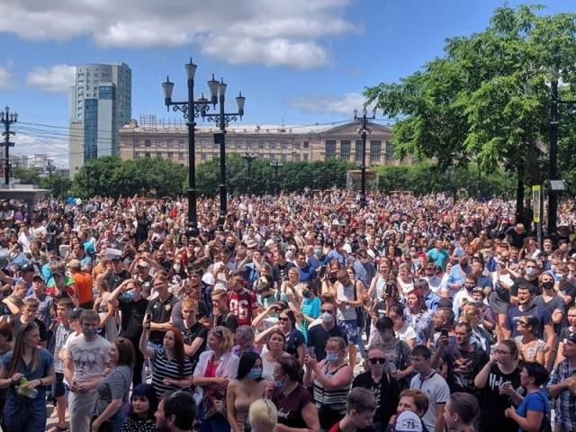 В Хабаровске повысилось число участников акции в поддержку Фургала