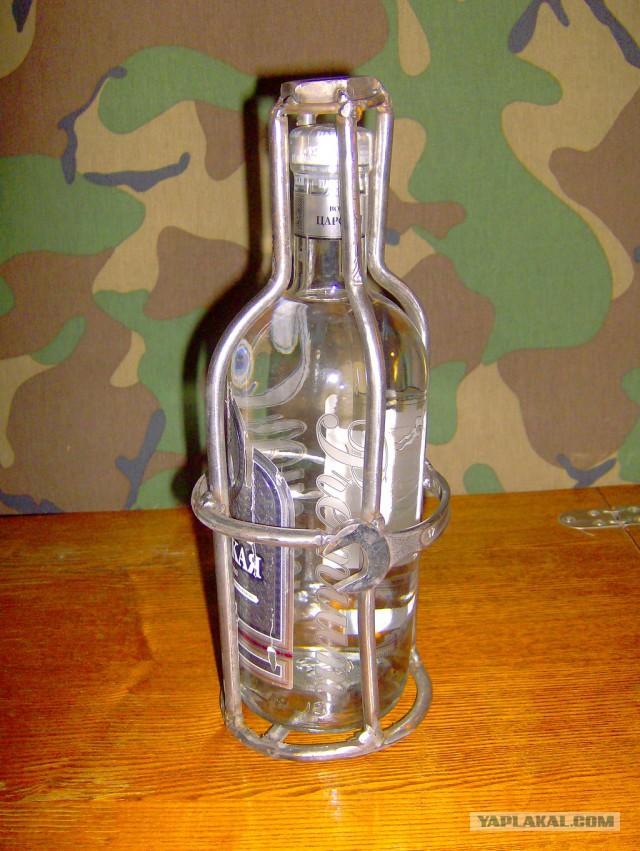 Прикольная упаковка подарка бутылки
