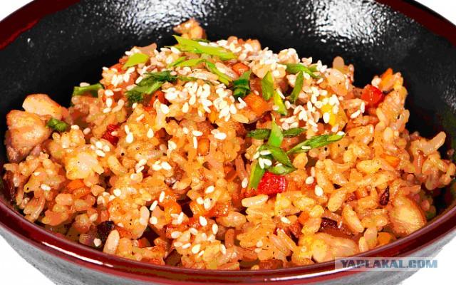 Рис по японски с курицей и овощами рецепт