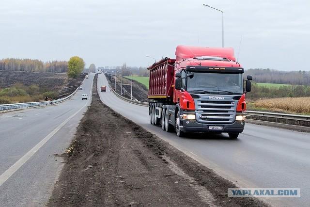 Владельцы грузовиков заплатят за ремонт дорог.