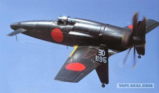 Японский перехватчик Kyushu J7W Shinden (1943-1945гг)