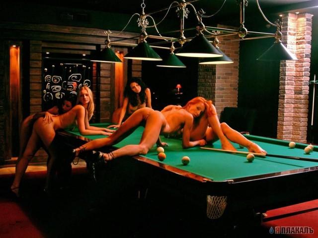 Девушки и бильярд (20 фото) Скачать картинку Лента приколов и эротики.