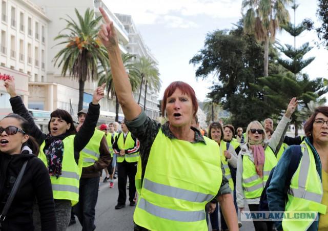 Во Франции начались массовые протесты против повышения цен на бензин