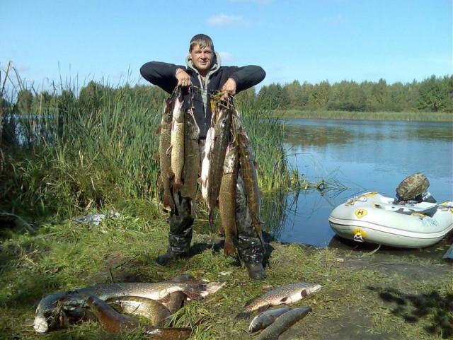 ловля крупной рыбы на озере
