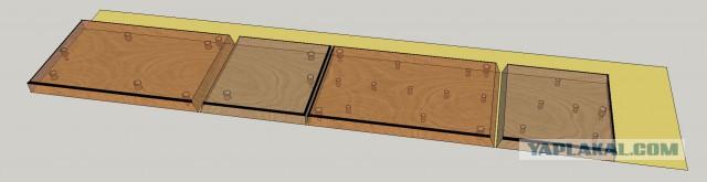 Вешалка из красного дуба или как срастить панели под произвольным углом без присадочного фрезера