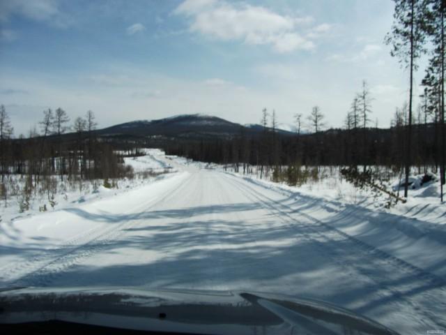 Дороги России:  автозимник.