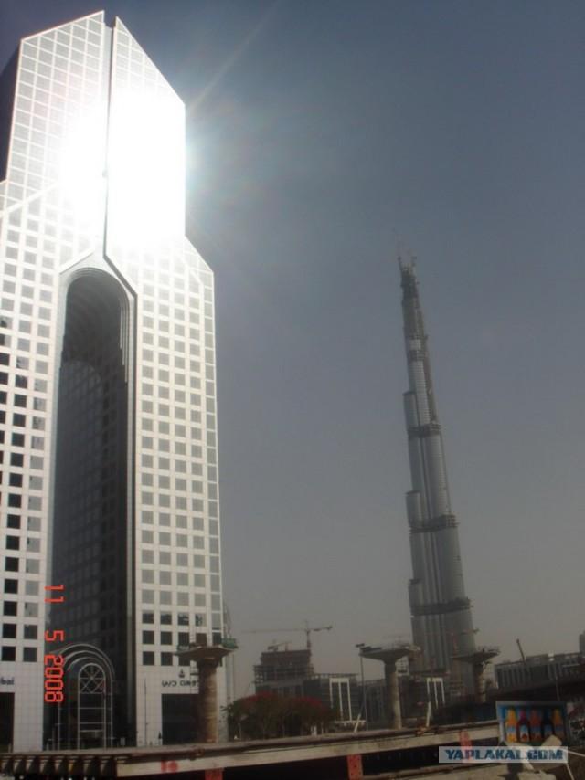 Подъем на самую высокую башню в мире.