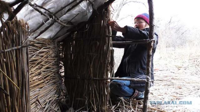 Хижина из тростника (камыша) своими руками