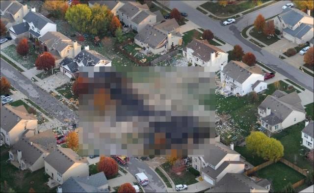 Мощный взрыв в Индианаполисе
