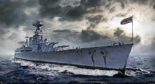 Гибель линейного крейсера «Худ» 24 мая 1941 года, спаслось трое.