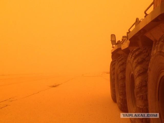 Ничего не обычного, просто русский БТР на Марсе