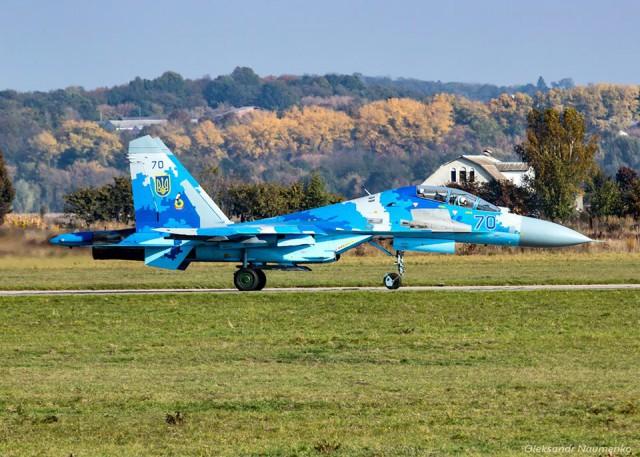 Разбился Су-27 ВВС Украины, летчик погиб