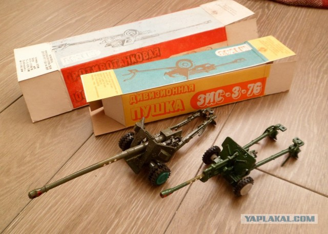 Пушки металлические СССР масштаб 1/43