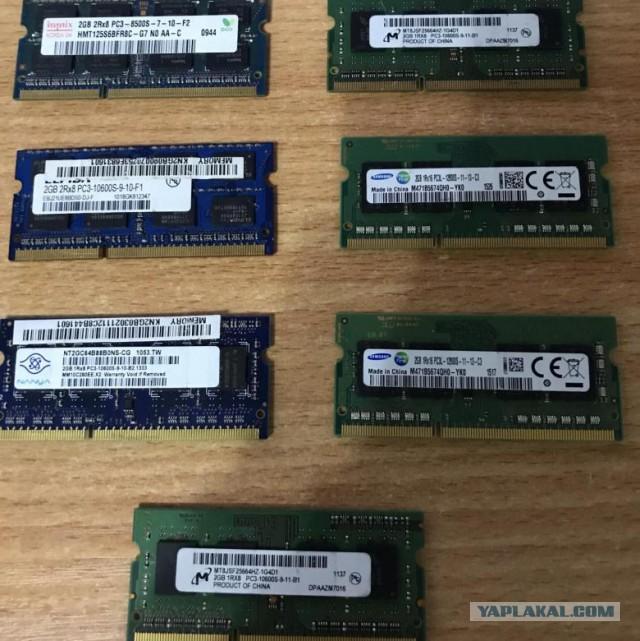 Москва. Планки памяти sodimm SO-DIMM DDR3 2gb, DIMM DDR2 1Gb