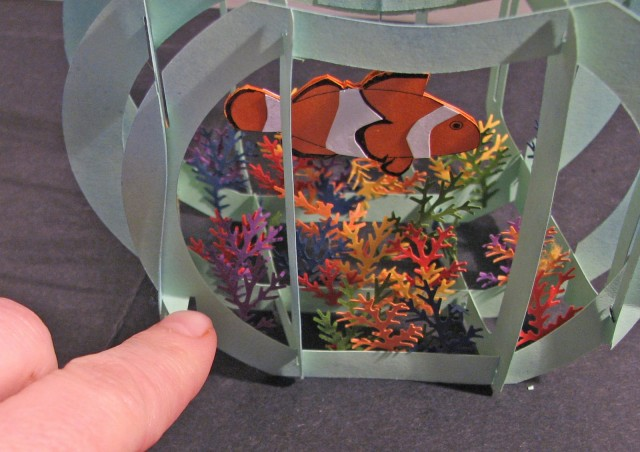 Открытка аквариум с рыбками39