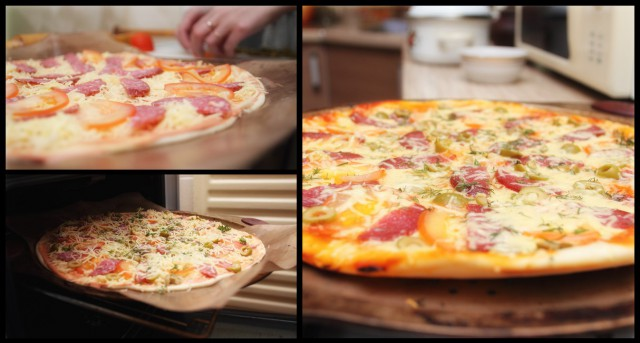 Как сделать пиццу на кефире видео