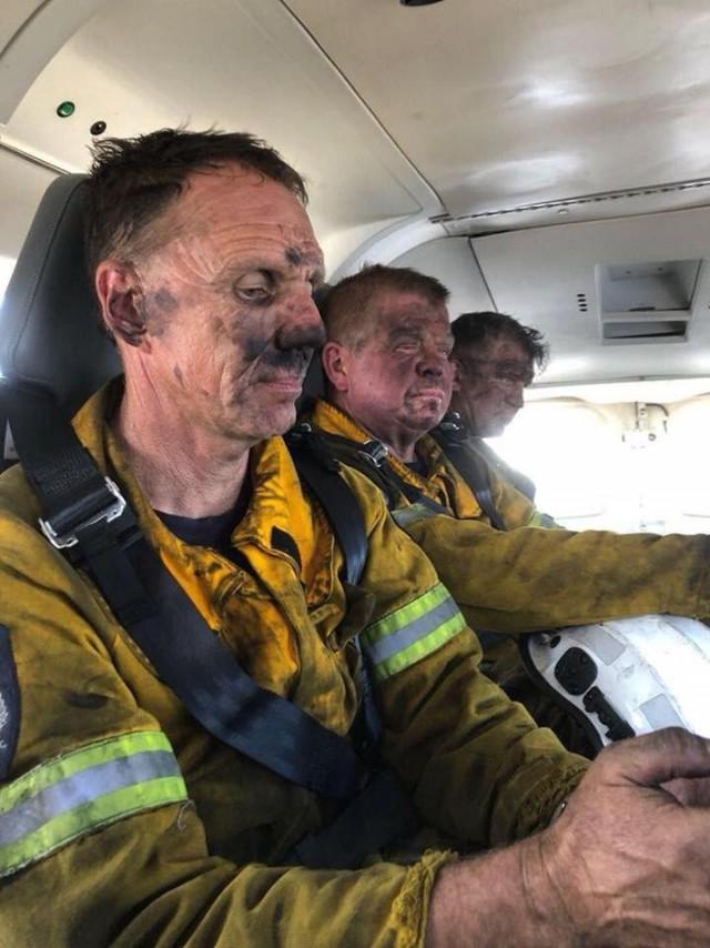 Пожарные домой едут