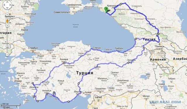 Путешествие Геленджик-Турция