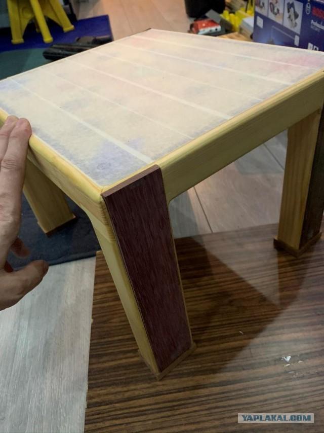 Как я смастерил табурет/мини столик своим малым