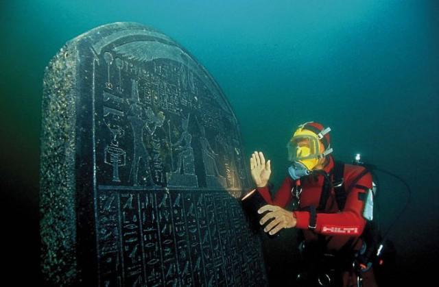 Реликвии Древнего Египта лежали 1000 лет под водой