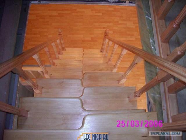 Дерев лестница на второй этаж своими руками видео 116