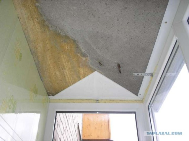 Обшивка потолка на балконе своими руками