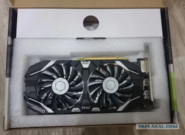 Продаю видеокарту MSI GeForce GTX 1060, 3Гб