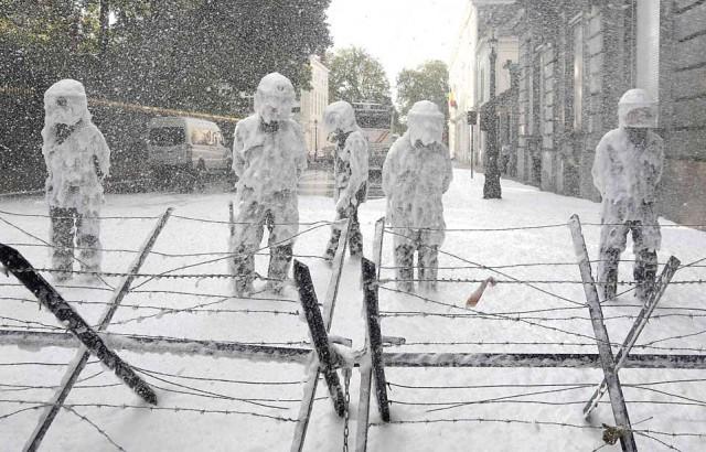 Полиция Брюсселя ощутила весь гнев пожарных