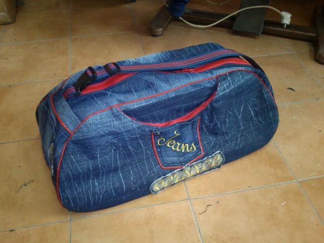 Как сшить дорожную сумку из старых джинсов выкройки