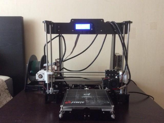 Продается 3D-принтер Anet A8, б/у (большой и удобный :))