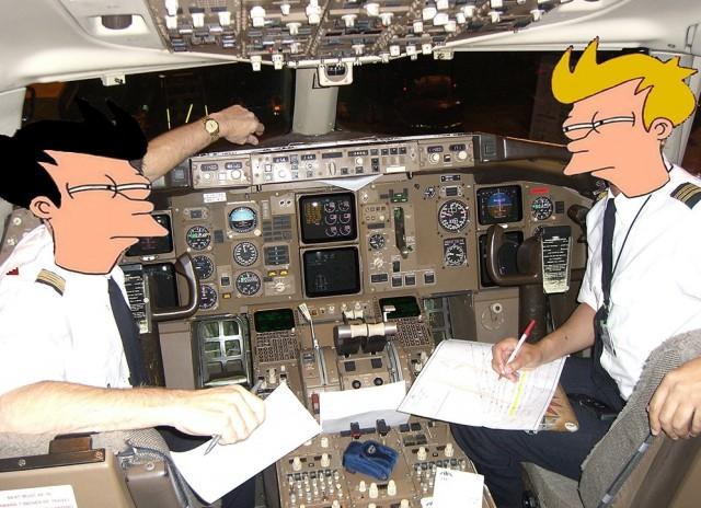 Пилоты пассажирских авиарейсов