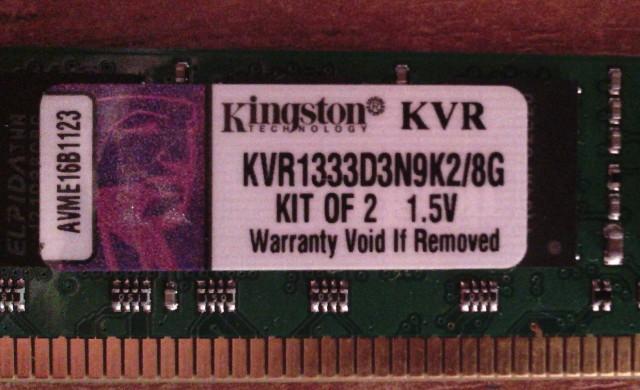 Память Kingston 1333D3N9K2 4G
