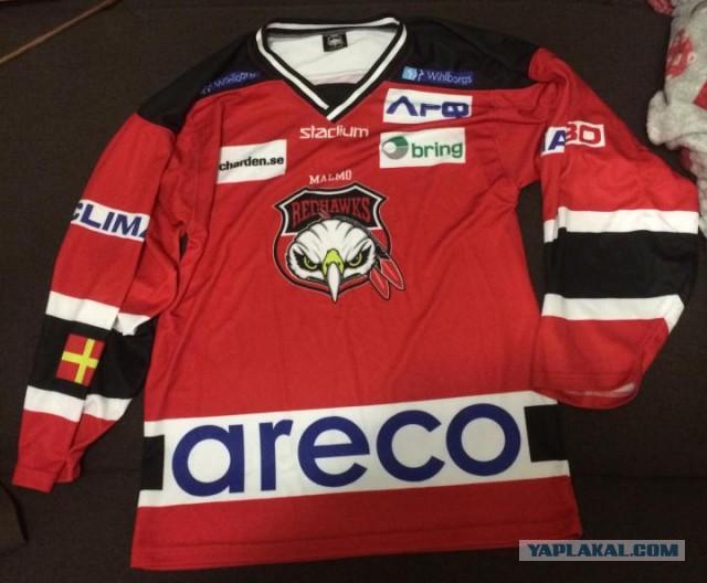 Хоккейный свитер Malmo Redhawks, новый.  Москва