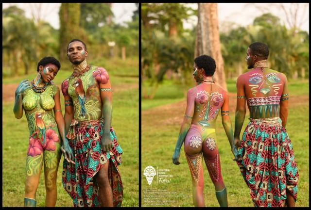 Яркие работы с фестиваля бодиарта в Экваториальной Гвинее