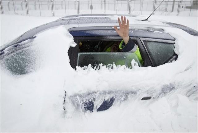 В Румынии бушует снежная буря
