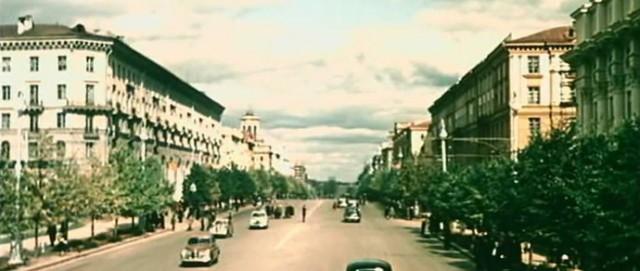 Стоп кадр: Минск 1953 года в цвете
