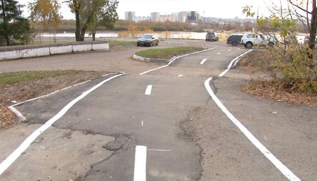 В Омске построили велодорожку за 10 миллионов руб