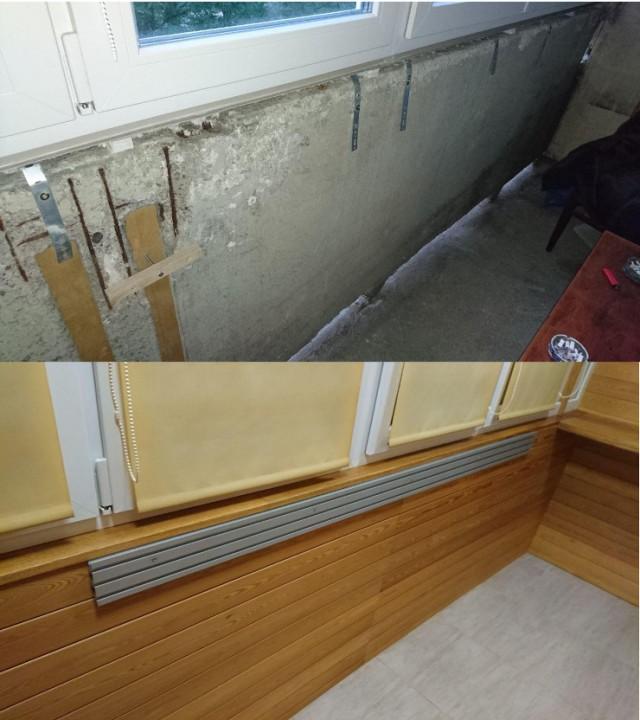 Капитальный ремонт квартиры. Большая лоджия.