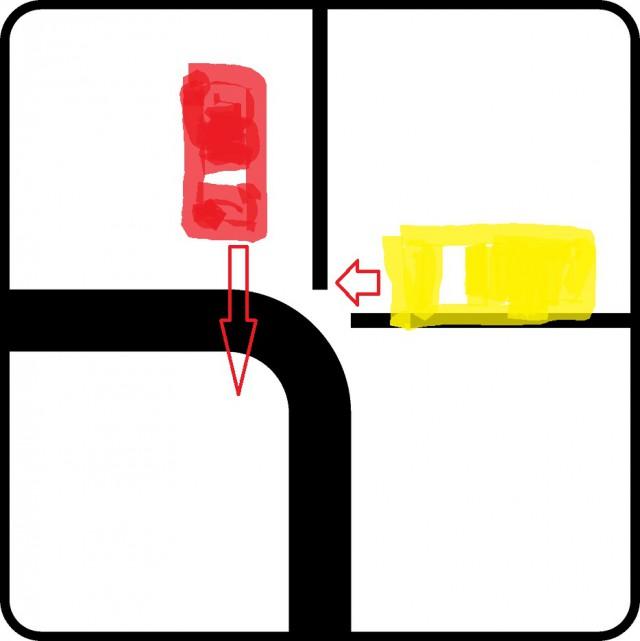 проезд перекрестка со знаком уступи дорогу