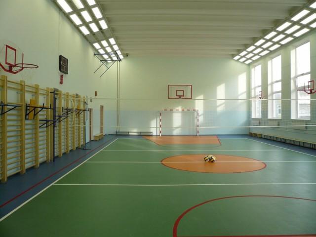 Разминка в спортзале