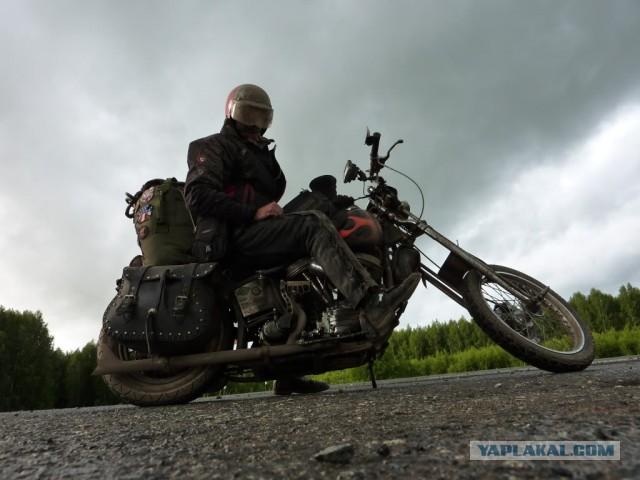 Путешествие американского байкера по России