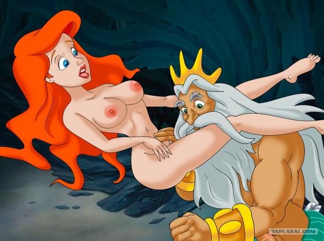 Мультипликационную героиню Русалку трахают анимационные герои сказок.