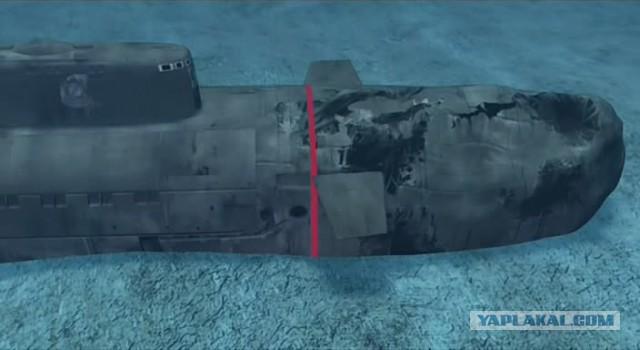 подводная лодка курск на суше