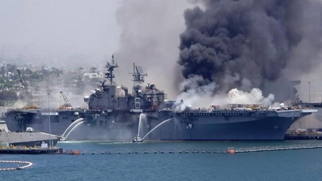 Дизельный Чернобыль. Сгоревший корабль ВМС США может вызвать глобальную катастрофу