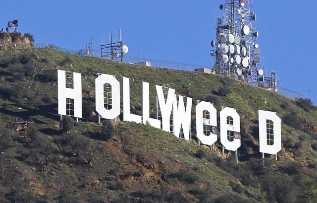 Вандал превратил знаменитую надпись Hollywood в Лос-Анджелесе в Hollyweed