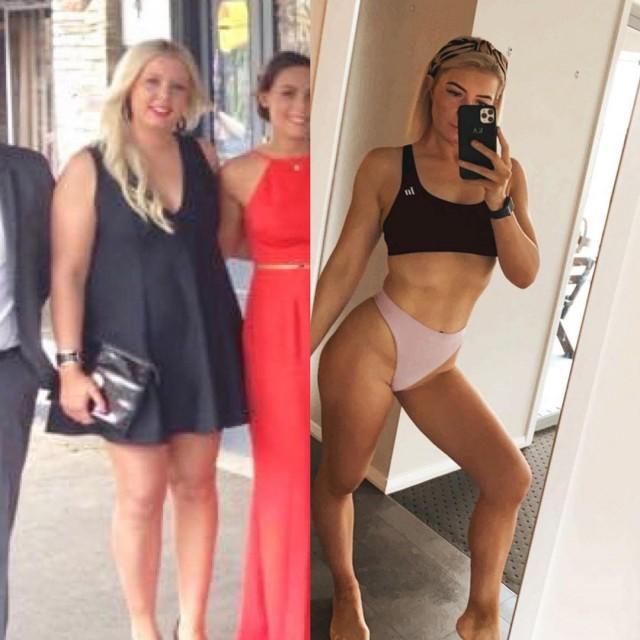 Тетка показательно похудела после того, как ее бросил муж. Но... что мешало не разжираться изначально?