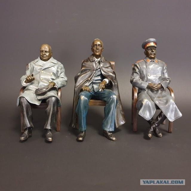 Продам скульптурную группу «Ялтинская конференция»