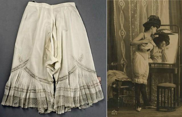 Дамское нижнее бельё второй половины XIX века