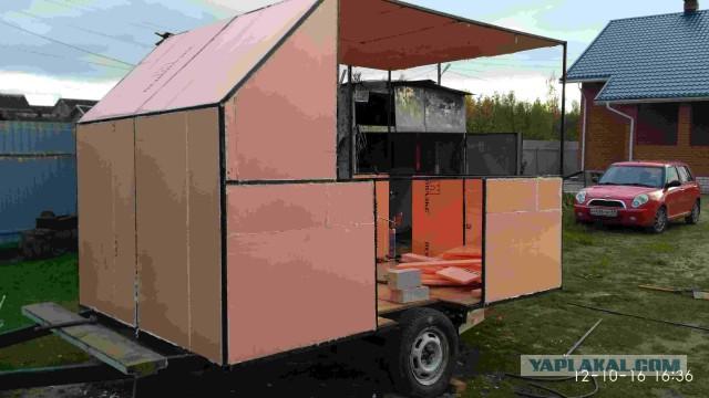 Самодельный прицеп дача, караван