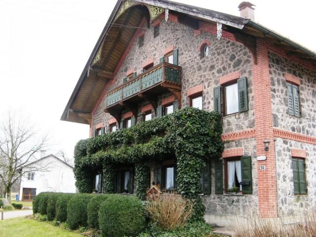 Альпийская деревня в Баварии.